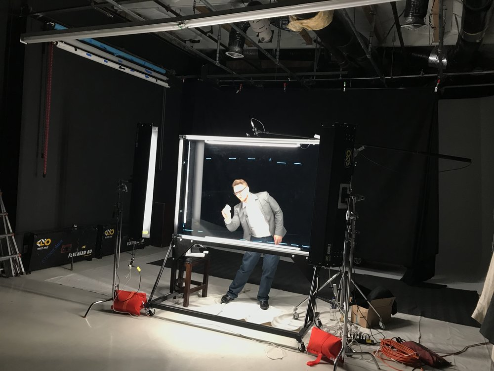 Lightboard Studio - $1099/day- Stage rental included in rate- Setup includes device & lighting- Comes with pen & ink options- Camera & Sound for addt'l fee