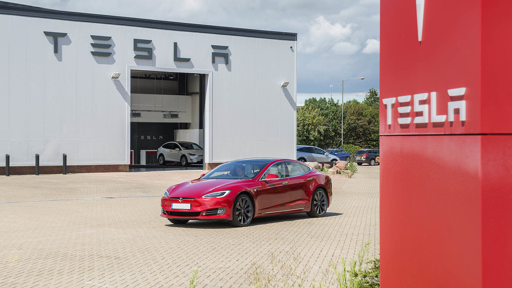 Tesla Showroom, Masthead