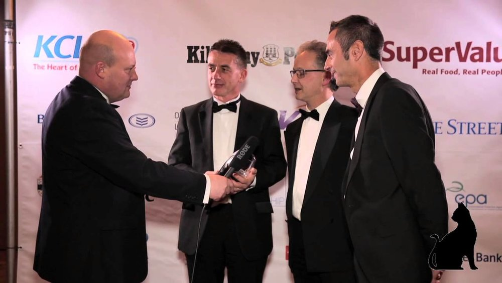 Managing Director Daniel Ring and Directors Jason Smith and Jonathan Culleton accepting their award at the Kilkenny Business Chambers Awards 2015