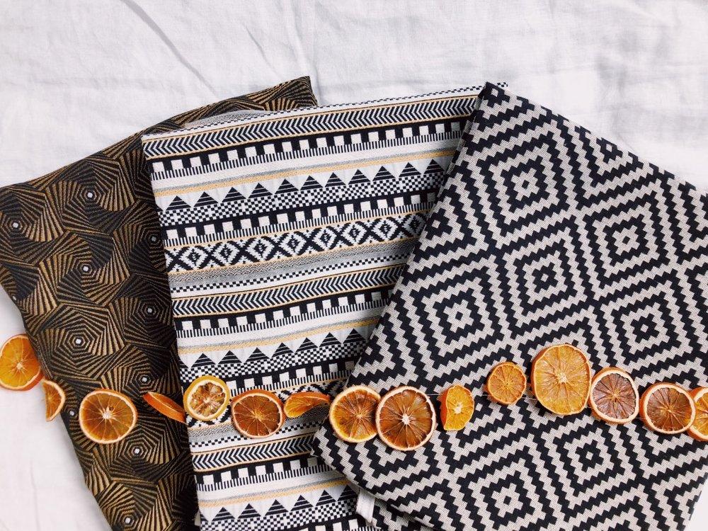 Les tissus Jacquard AIDAN 100% Made in France pour notre première collection de tête-de-lit.