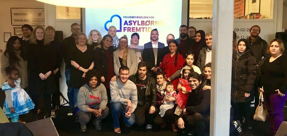 Stormøde om Folkebevægelsen for asylbørns fremtid den 12. marts 2018