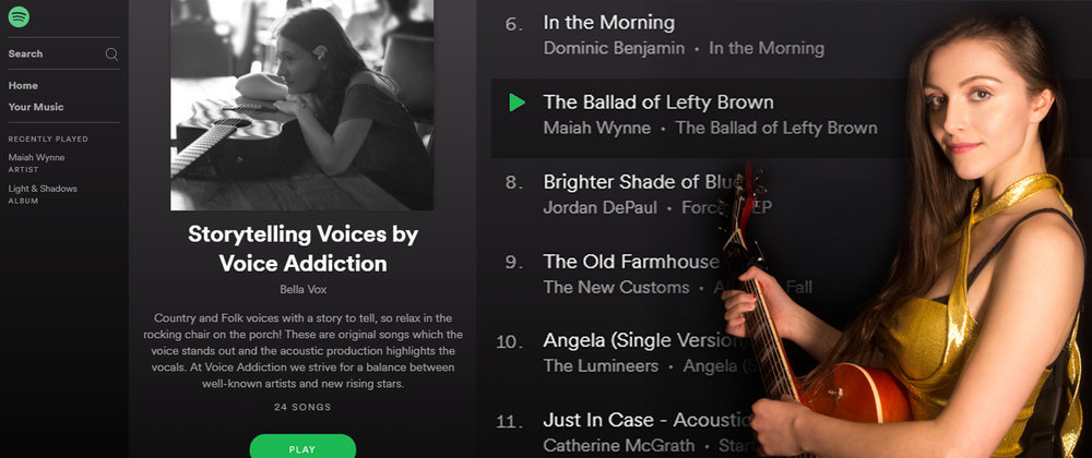 The Ballad of Lefty Brown has been added to Storytelling Voices official Spotify playlist!