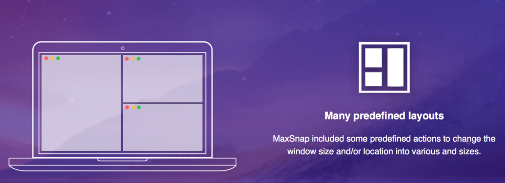 MaxSnap Many predefined layouts - SAC student discount.png