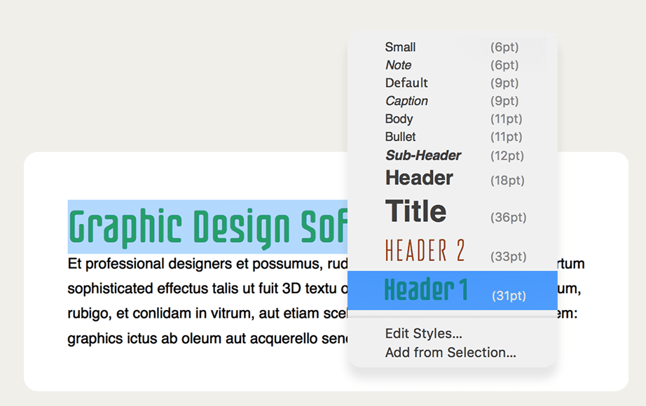 Swift publisher Text styles - SAC student discount.png