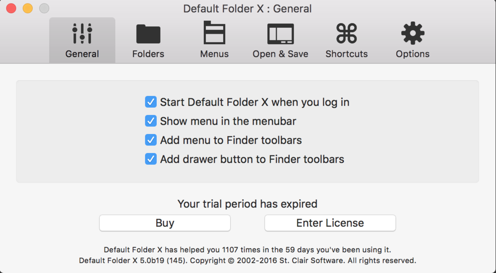 Default Folder X General preferences - SAC student discount.png