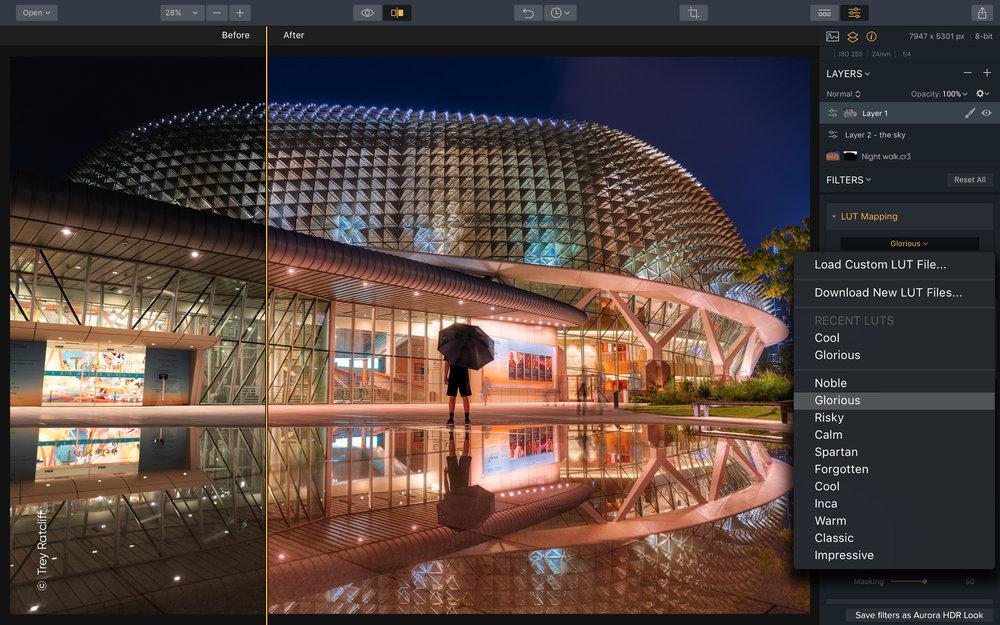Aurora HDR 2019 - UI_02_LUT mapping_Aurora HDR'19 - SAC Student Discount.jpg