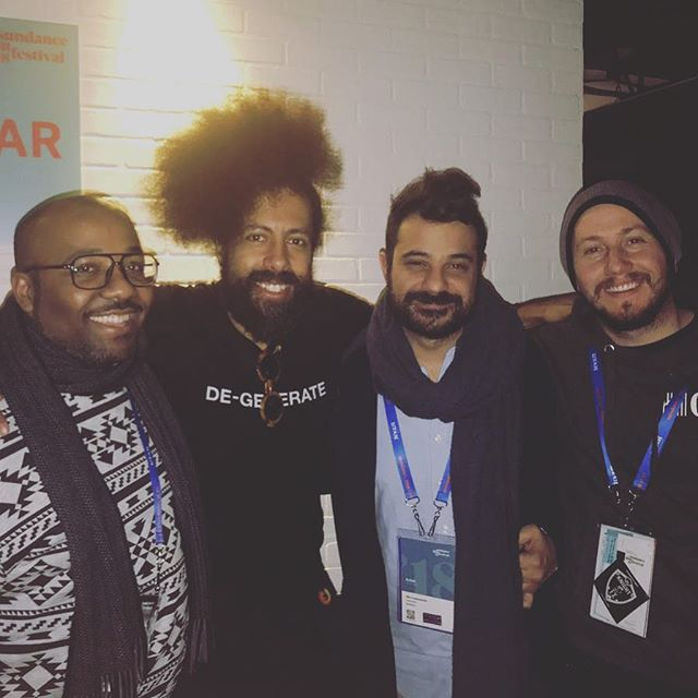 Reggie Watts approves!!! 💖🤟🏽 #battlescar #sundance