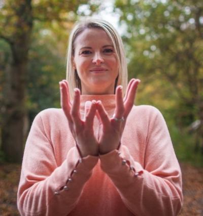 Suzy Reading practices Yoga at Ashridge  Thursday, Nov. 2, 2017