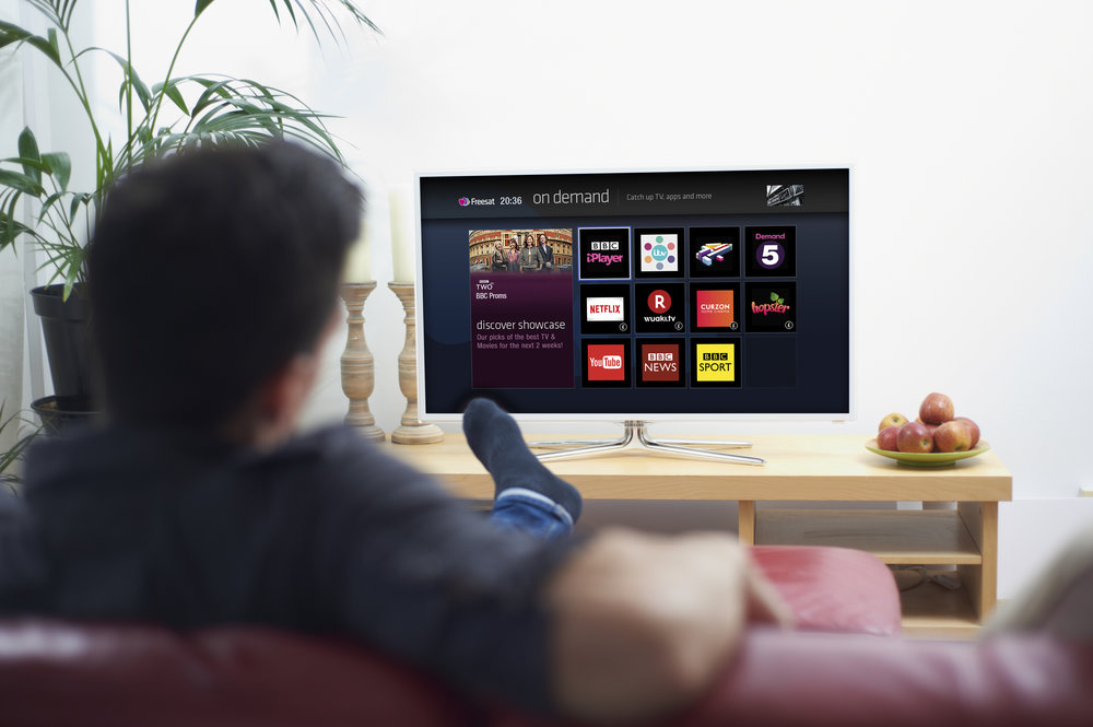 Freesat on demand services and catch up tv