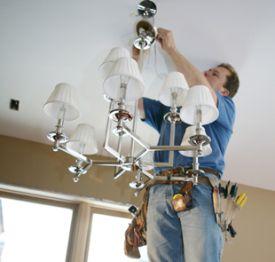Install light fixtures