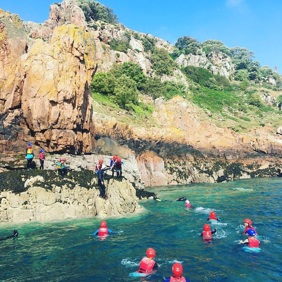 RIB Coasteering Everyone in the water.jpg