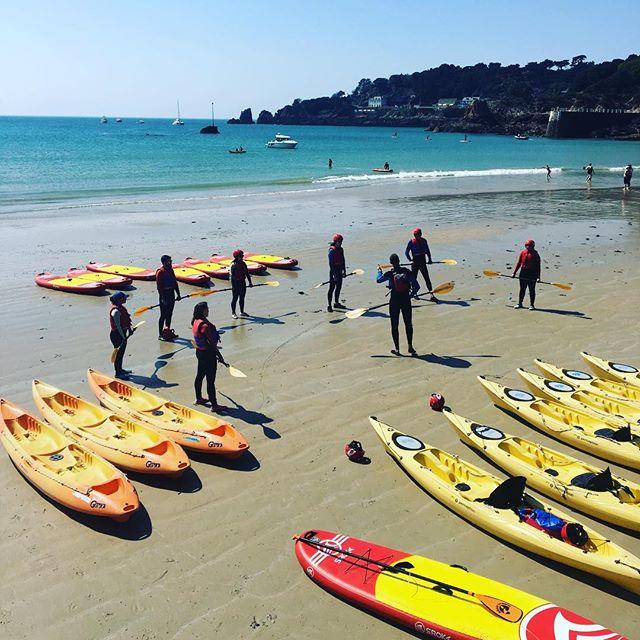 Tom about to hit the water with a kayak tour #theislandbreak #easterholidays  @visitjerseyci @absoluteadventures