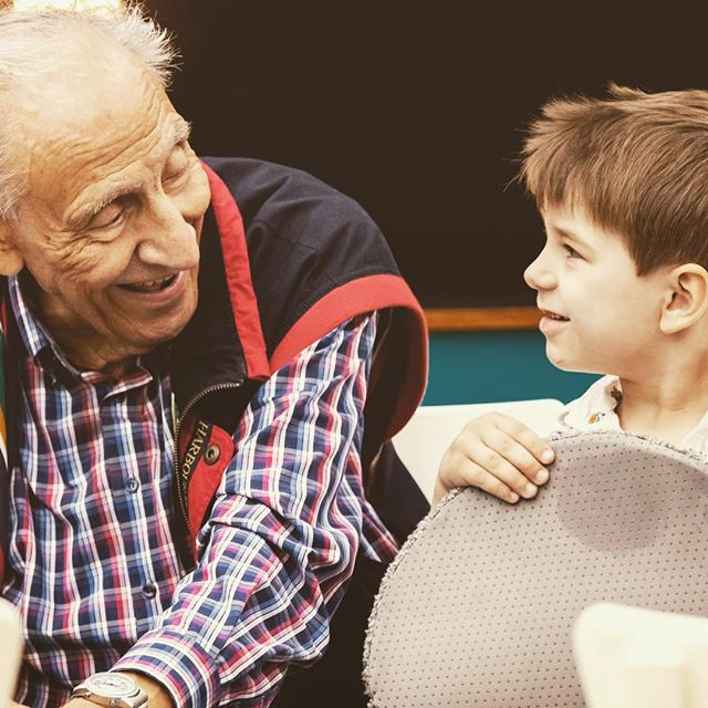 92 year old meets 4 year old in generations project. They become friends. #connect #generations #love