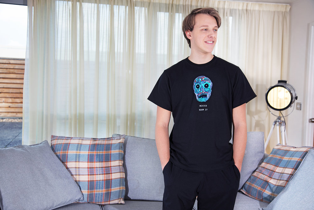 Mosaic Skull   With our unique design, the Mosaic Skull Pyjamas are perfect for those lazy days around the house. Prices from £35.  Made from 100% Cotton   Click to buy.