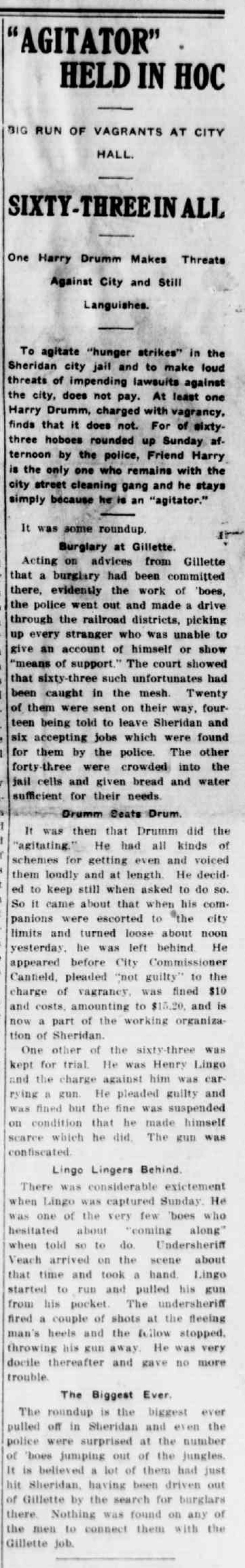 Sheridan Post, April 21, 1914