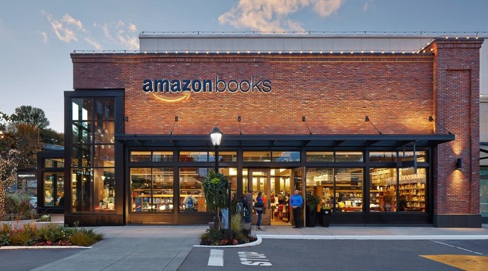 Above: Amazon physical bookstore in Seattle, USA.
