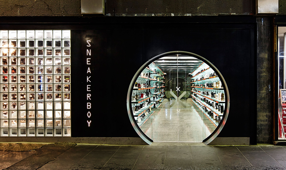Above: Sneakerboy showroom in Melbourne, Australia.