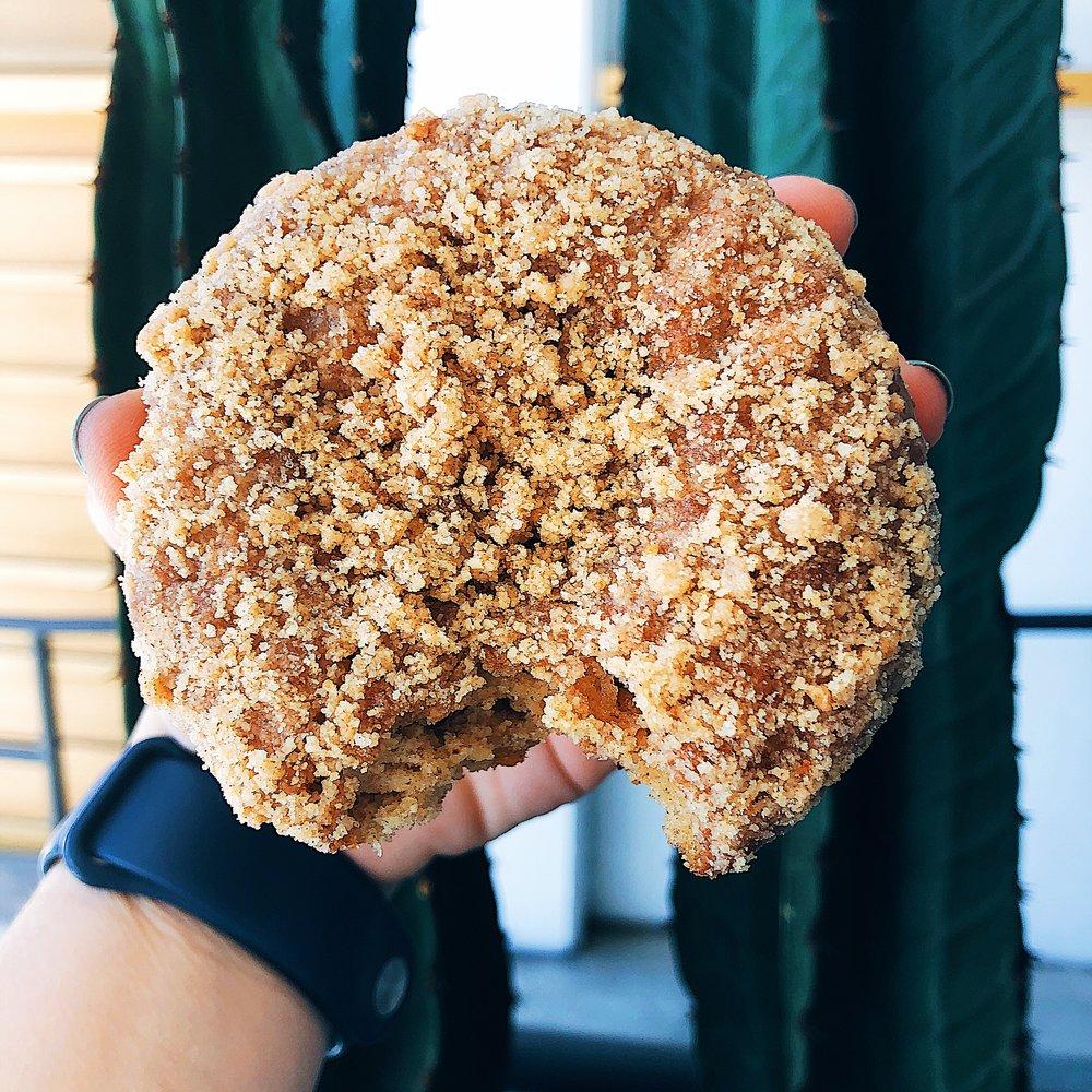 Sidecar doughnuts - cinnamon crumb cake donut