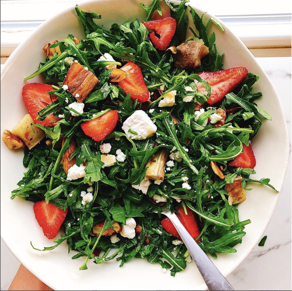 Crispy Potato and Arugula Salad - inspo from @TazzaKitchen