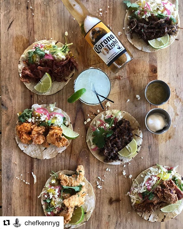#Repost @chefkennyg with @get_repost ・・・ October Taco Promotion @gilbertssouthern (Patio) @seachaserslounge and @gilbertshotchicken $4 Tacos!!!! Smoked Brisket Smoked Turkey Drums Pulled Pork Smoked Fried Chicken Fried Shrimp Fried Catfish Served on Grilled Corn Tortilla, Cabbage, Pickled Onion and Peppers, Cilantro, Cotija, Lime Wedge! Served with Salsa Verde and Sour Cream! Begins October 2, 2018!!!! Stop in and have a cold Beer or Hand Crafted Margarita! Don't forget about Happy Hour 4-7 pm daily😊🍻🥃🍷🍾🍹🍸🍽🌮#904 #jaxbeach #jacksonvillebeach #florida #tacos #tacotuesday #bbq #eatlocal #southern  Photos by: @feedtheville