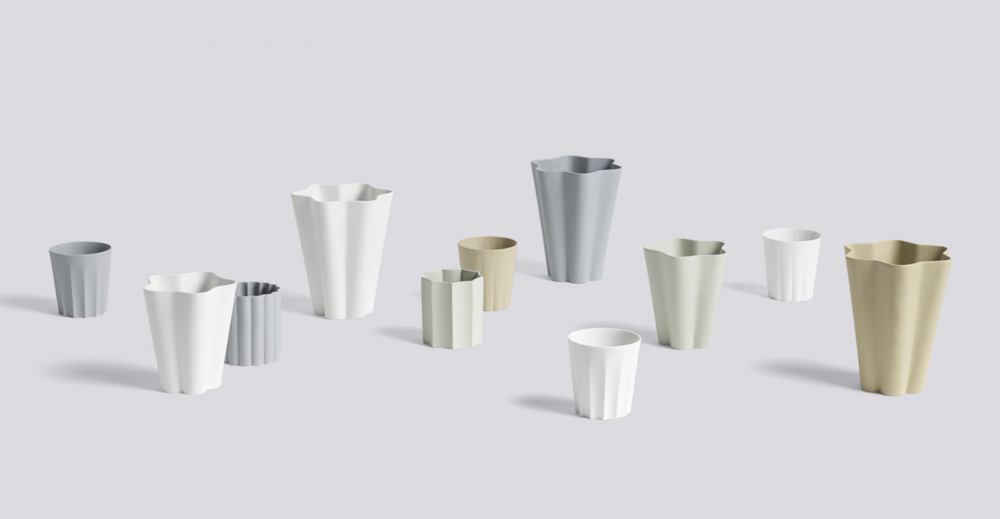 IRIS COLLECTION : Vases, penholders and mugs in ceramics,  handmade by Arita in Japan - Launched by  HAY  (2017)  Credit : CLARA VON ZWEIGBERGK website