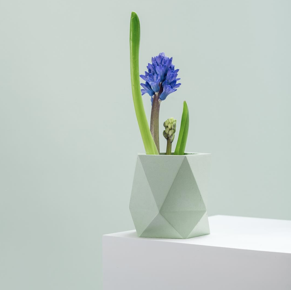 Polyhedron planter, mint color by  Frauklarer