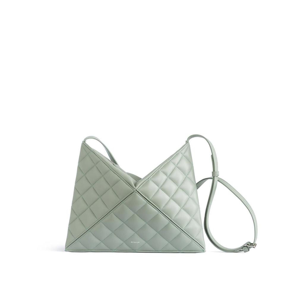 Quilted Flex Crossbody Aqua bag by  Mlouye
