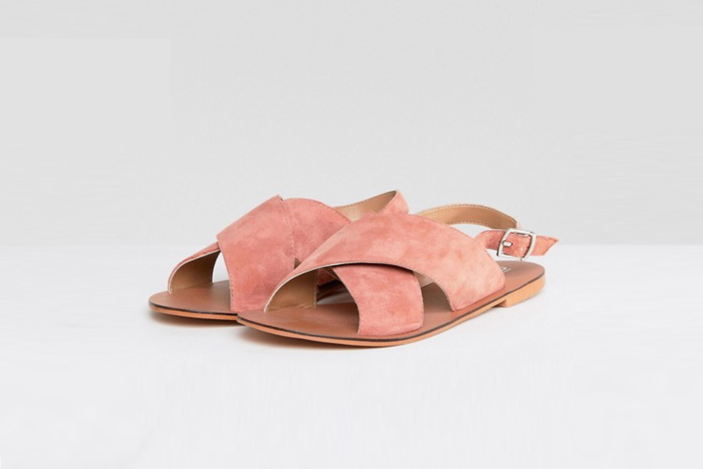 Leather Flat sandals /  ASOS Flicker