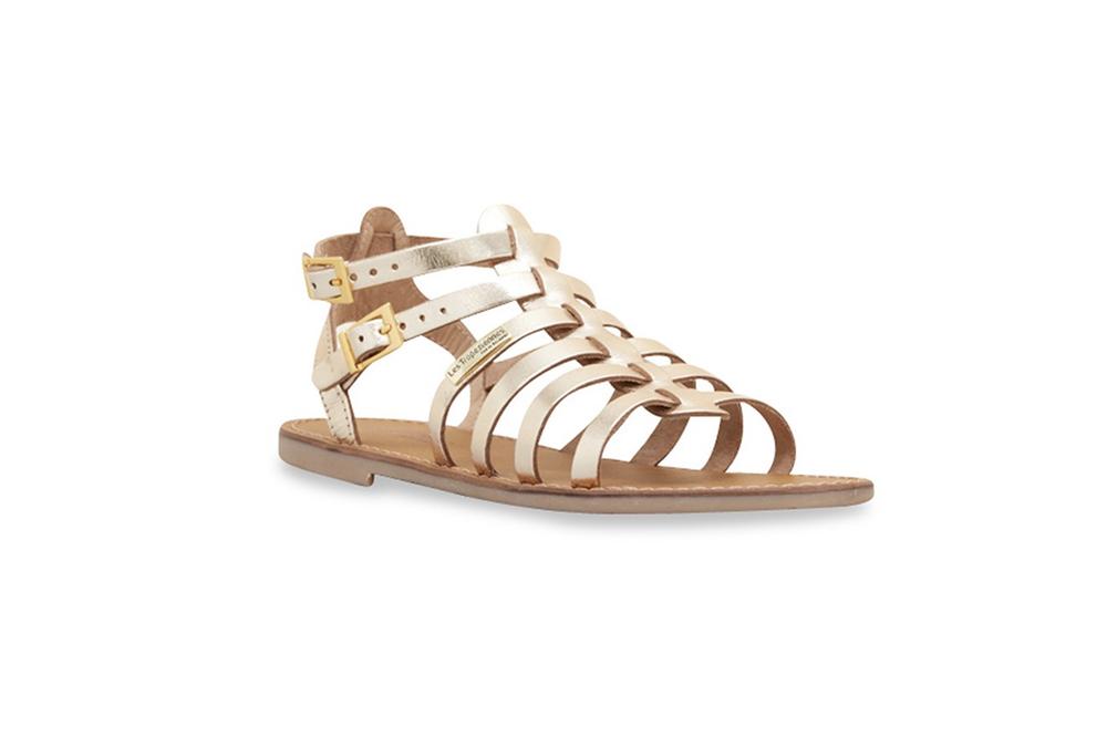 Gold hicelot gladiator sandals /  Les Tropéziennes