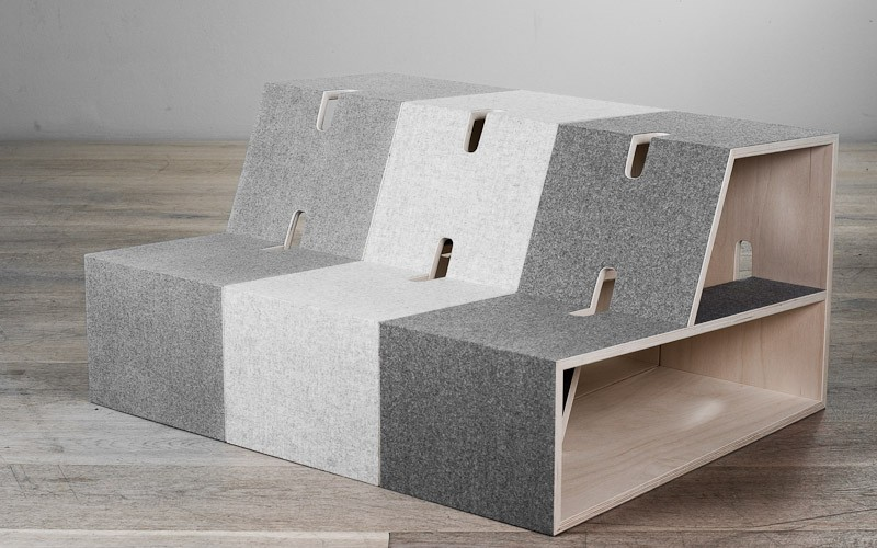 Sitting + Shelf set by  PERLUDI .