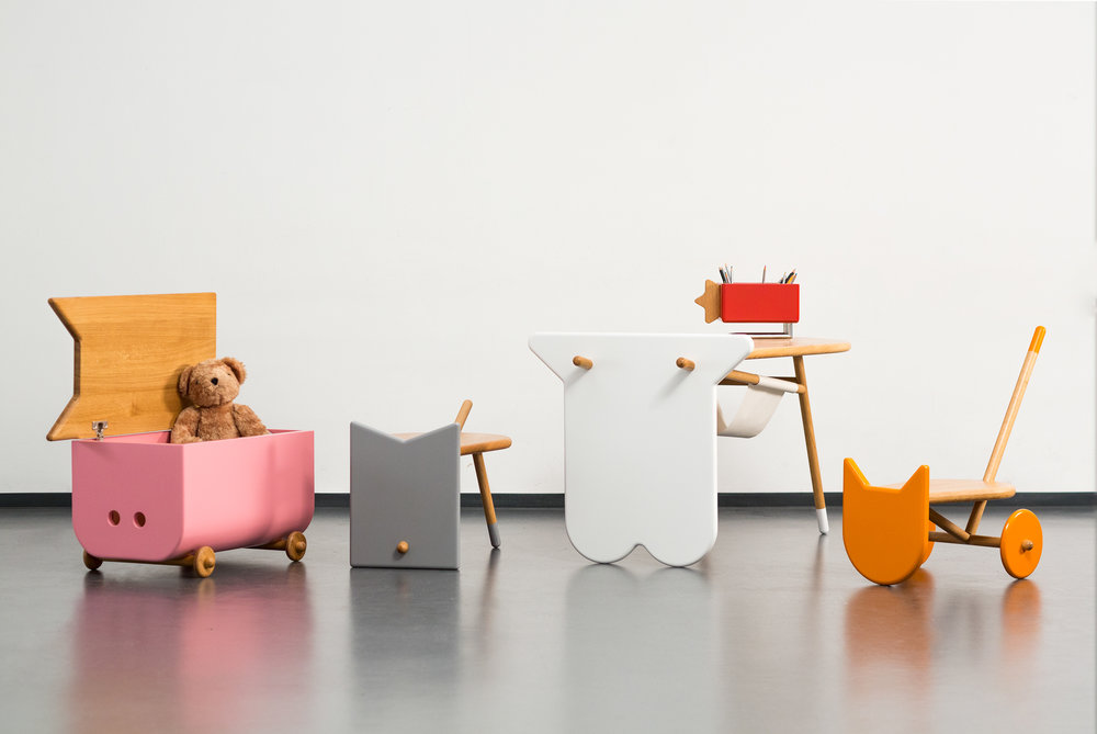 Animal-inspired furniture set by  Nataša Njegovanović . Cute and multi-functional!