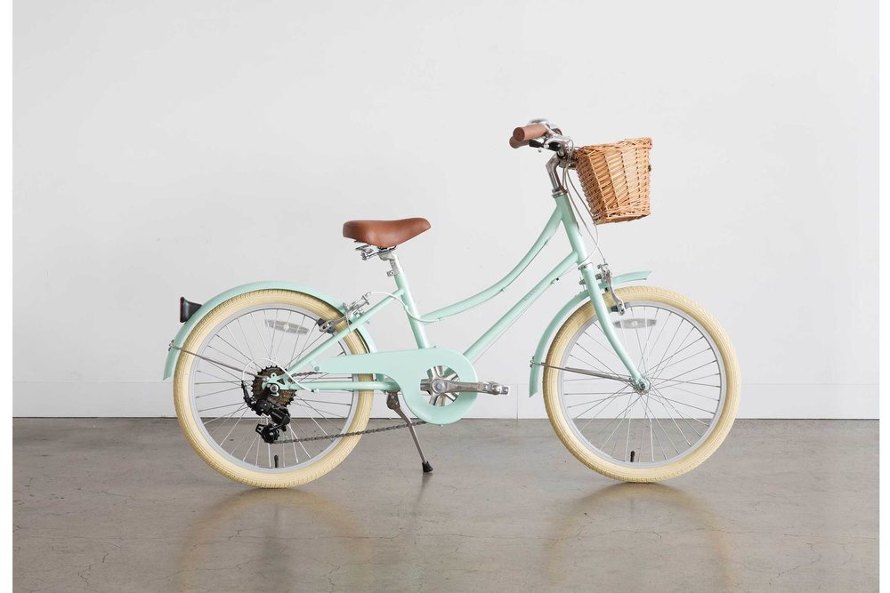 The pastel green Gingersnap bike by  Bobbin .