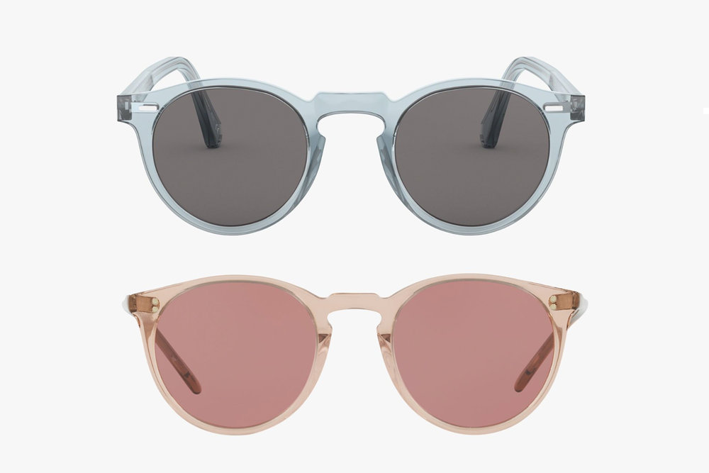 The iconic pastel glasses of  Oliver Peoples .