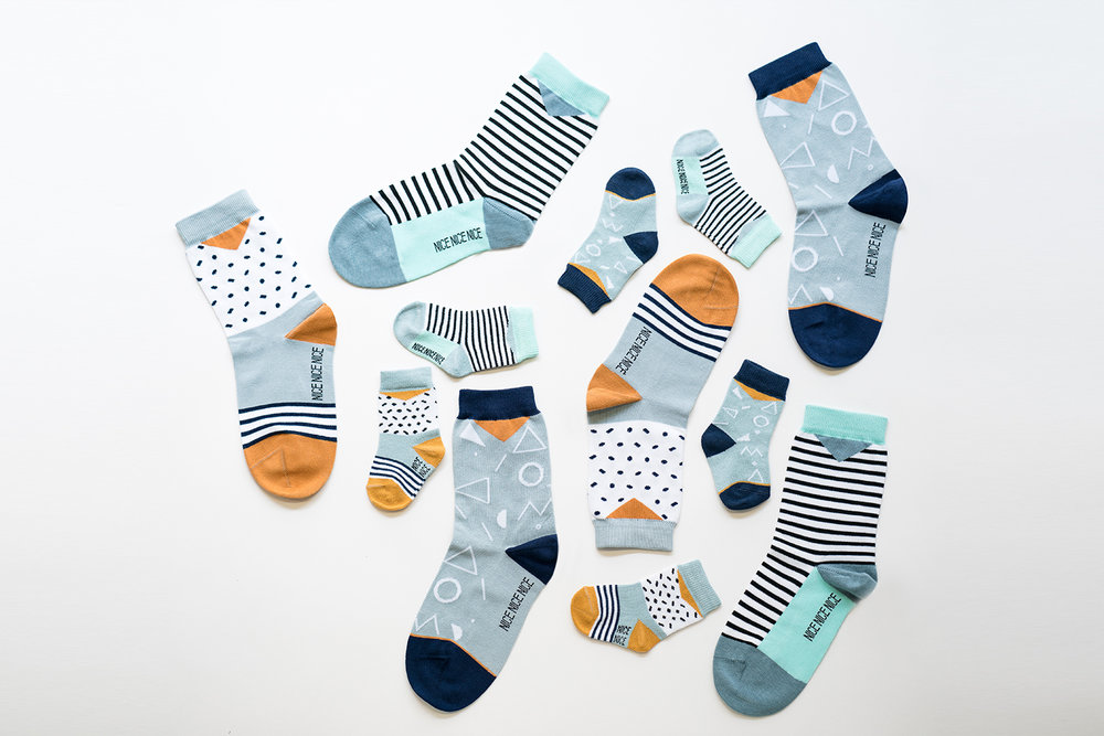 The fun, colorful and patterned socks by  NiceNiceNice .