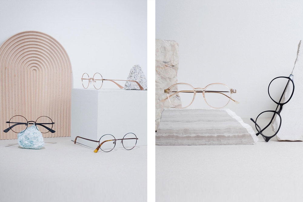 Sunnies Specs ' glasses: vintage designs with contemporary colors and materials.