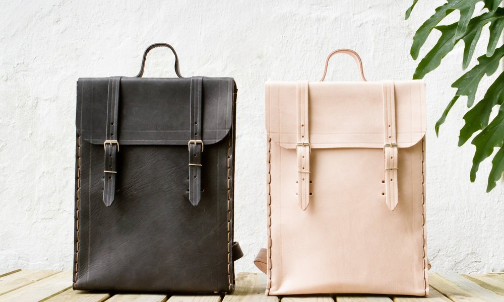 The handmade leather backpacks from independent designer  Laura Pereira .