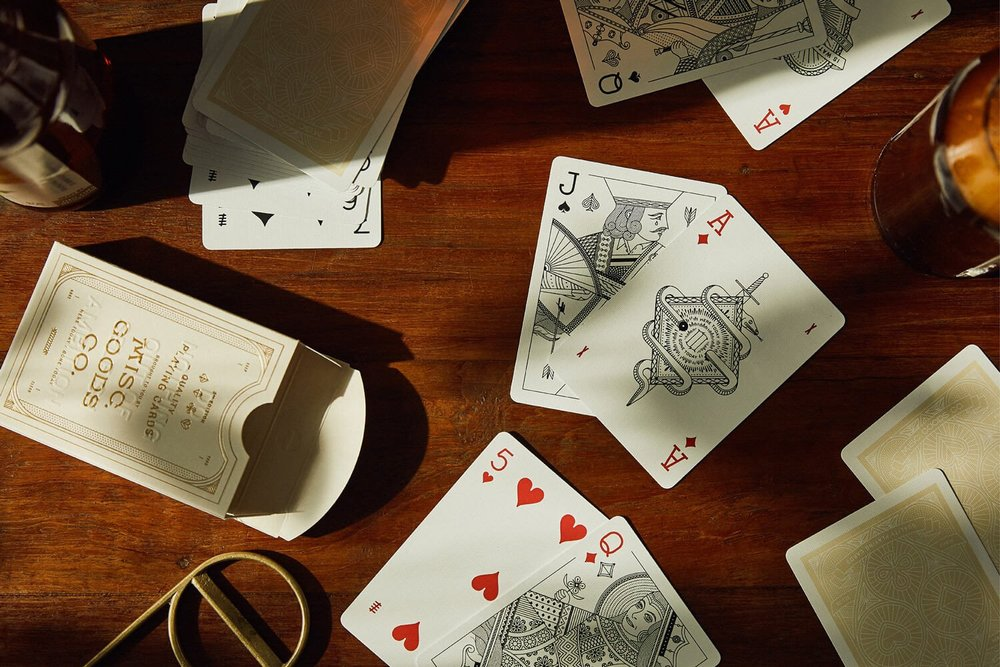The impressionable Ivory Deck of Playing Cards by  Misc Goods .