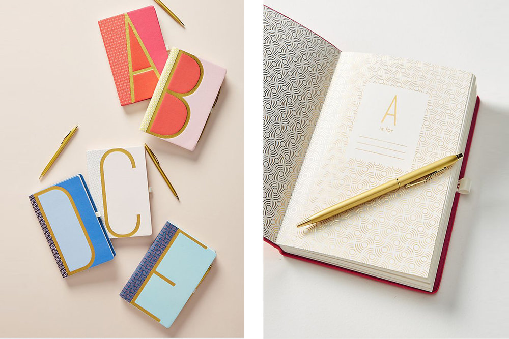 The fun personalized Monogram Journal by  Anthropologie .