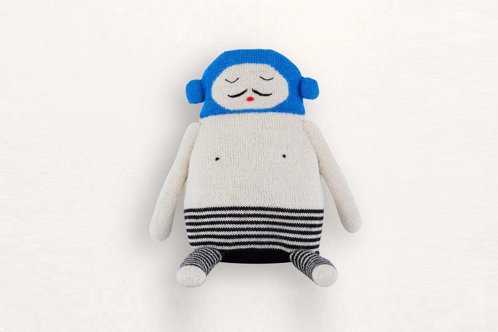 The charming, handmade Balthazar stuffed toy sold by  LUCKYBOYSUNDAY .