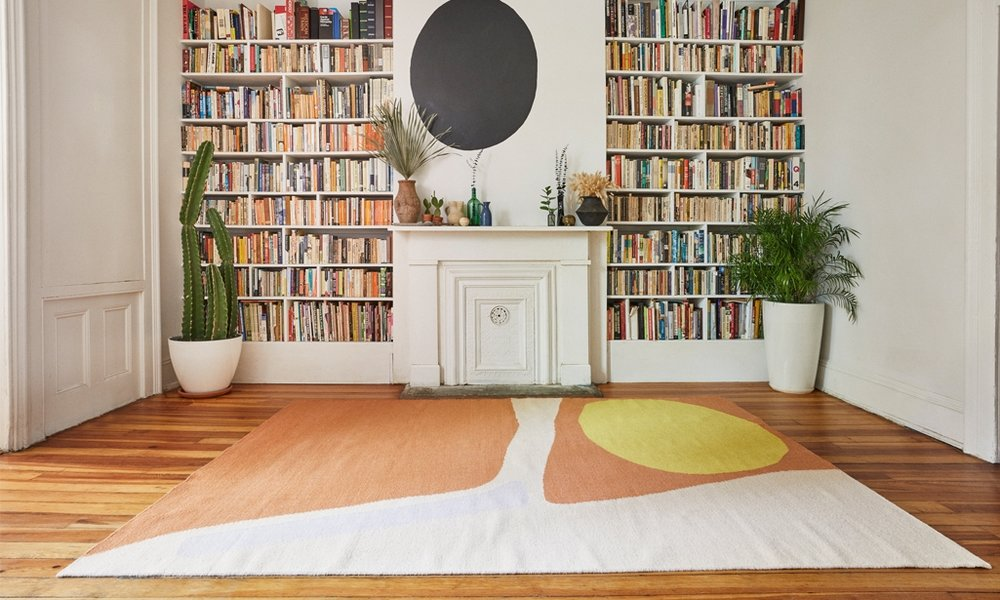 The contemporary-looking Desert Companion rug, by  Cold Picnic .