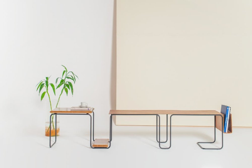 Super modern Slim Bench, designed by Daniel Coutinho and sold at  Boobam .