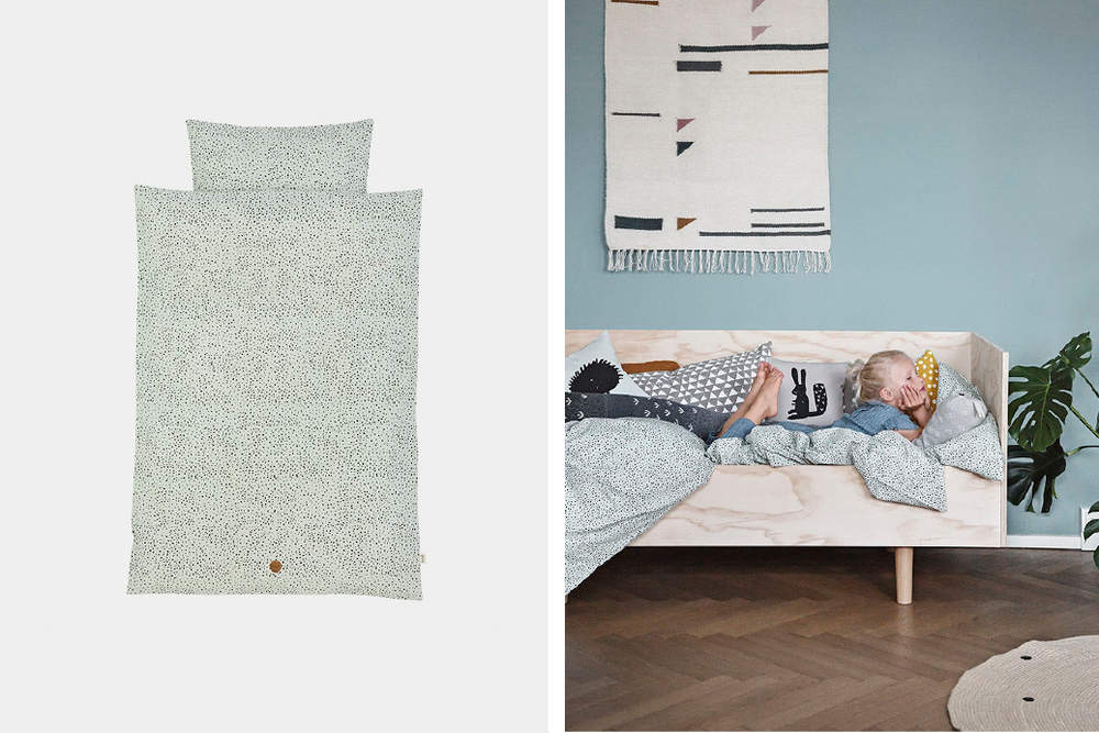 Mint dot bedding junior  - Official picture