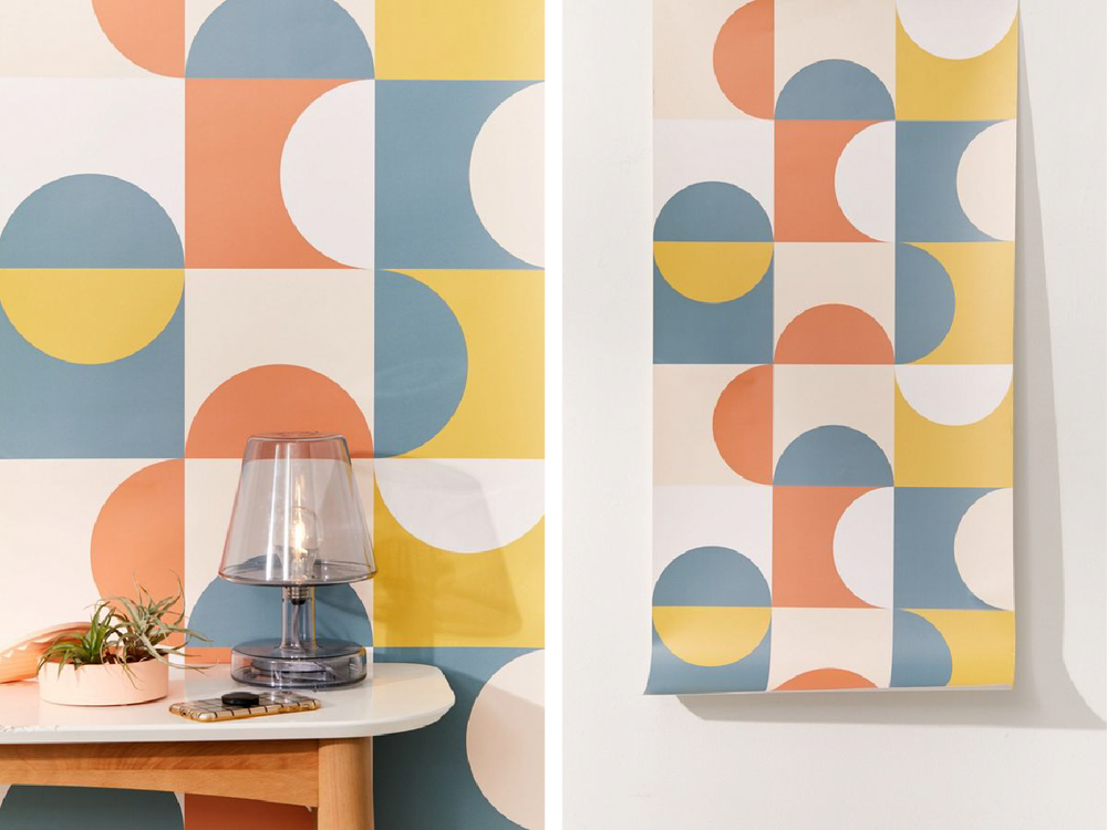 Mid-Century Geometric wallpaper  - Official picture