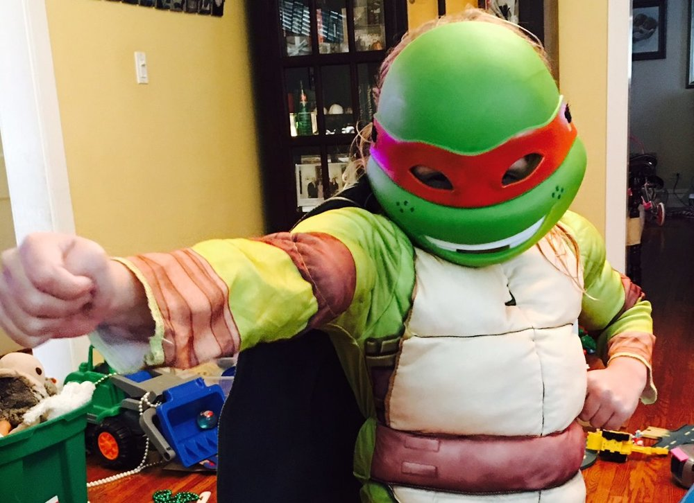 embracing my daughters inner teenage mutant ninja turtle and other strong girl halloween costumes