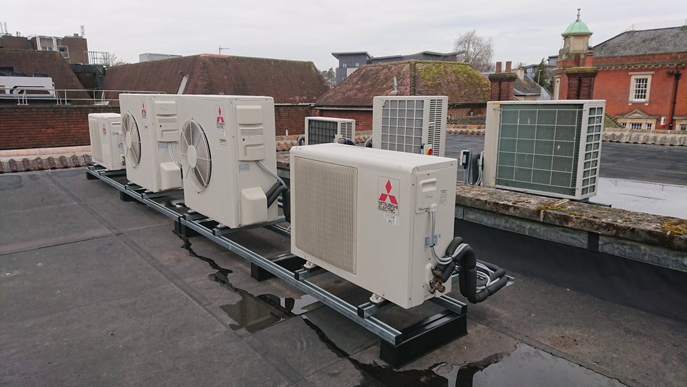 NEW offices A/C install Heating & Cooling for Langdown Properties - Location: Andover