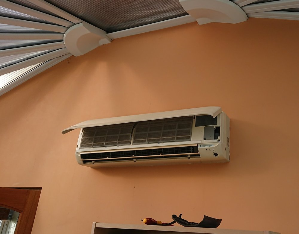 Removal old Daikin system – Install NEW CIAT System (Assisting De-Humidification) - Residential Conservatory - Heating & Cooling