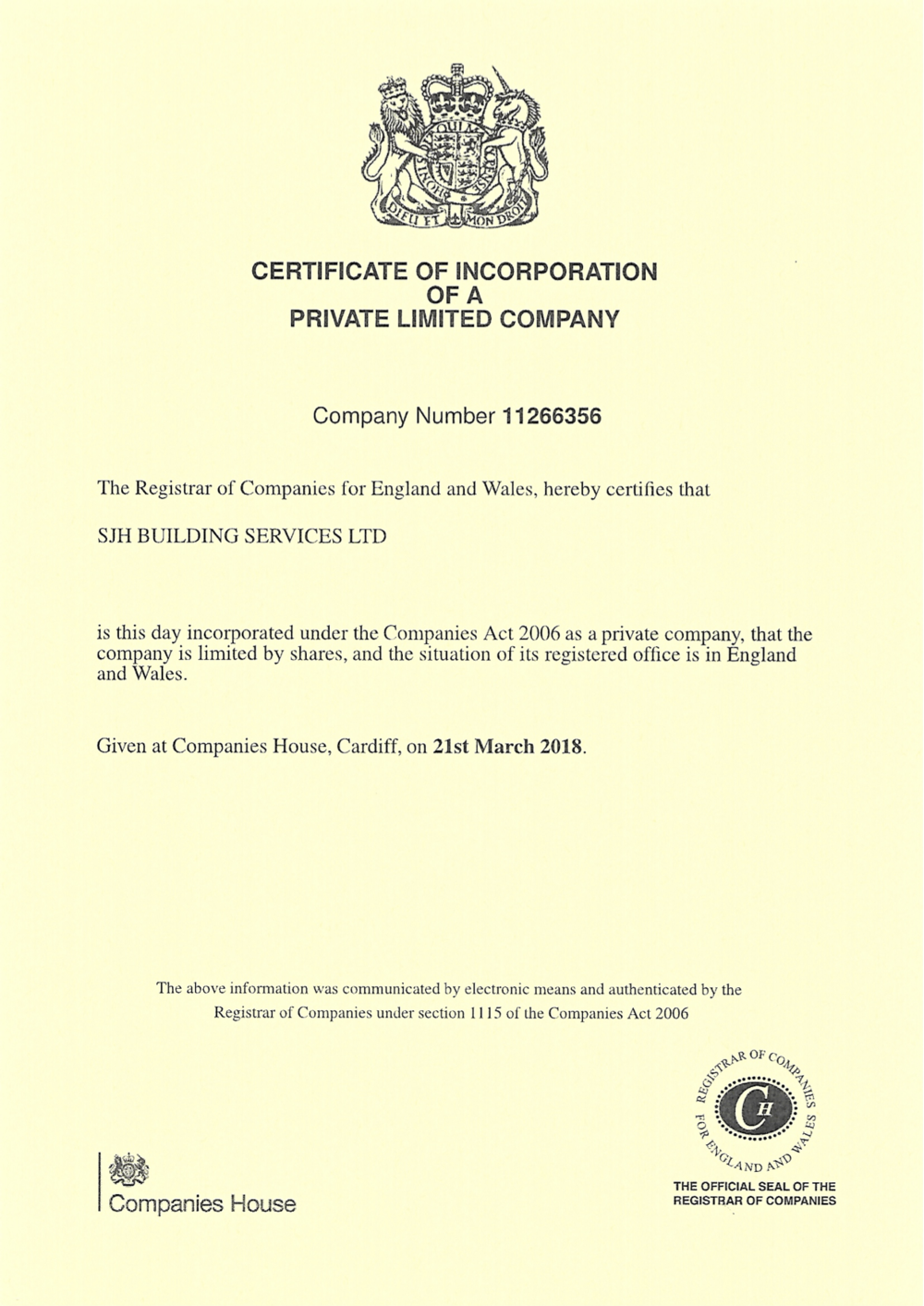 SJH Building Services Incorporation Certificate.png