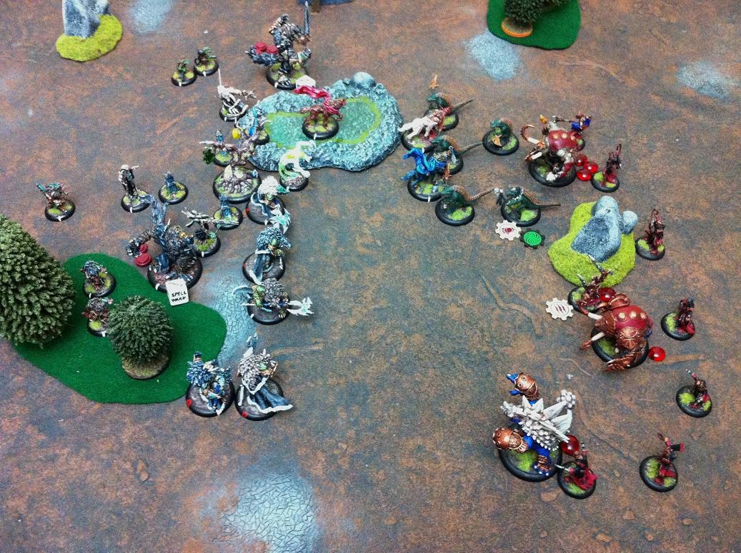 Hordes Battle Report - Skorne vs  Circle Orboros - 35 pts