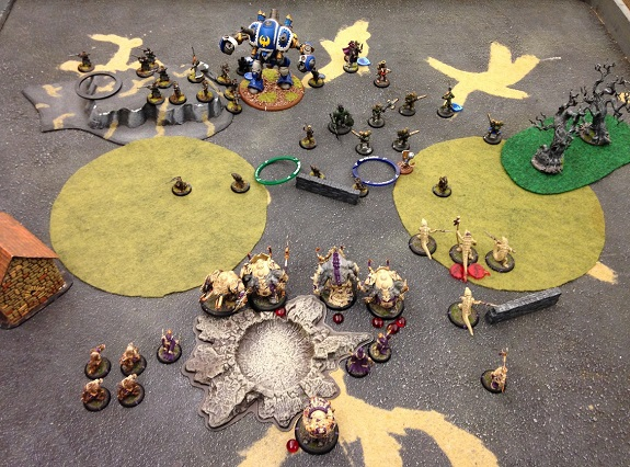 Turn 1 - Skorne (end of round 1 perspective)