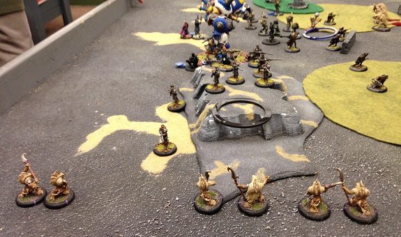 Turn 2 - Skorne (Trogs coming on the board)